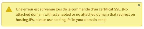 Erreur OVH Certificat SSL