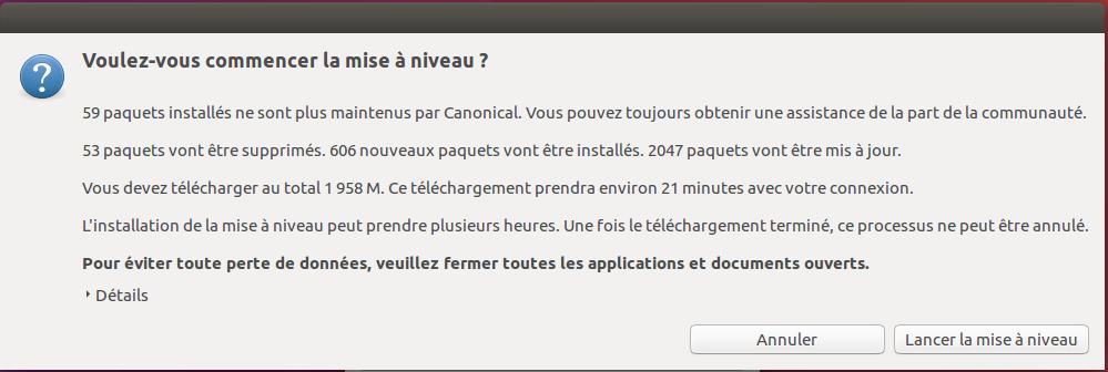 Confirmation mise à jour Ubuntu 18.04