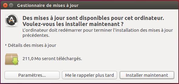 Installer mise à jour Ubuntu Logiciels