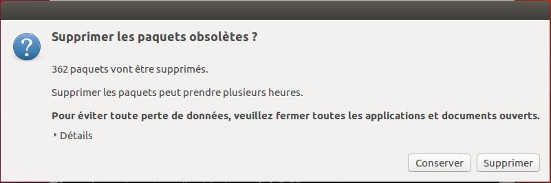 Supprimer paquets obsolètes Ubuntu