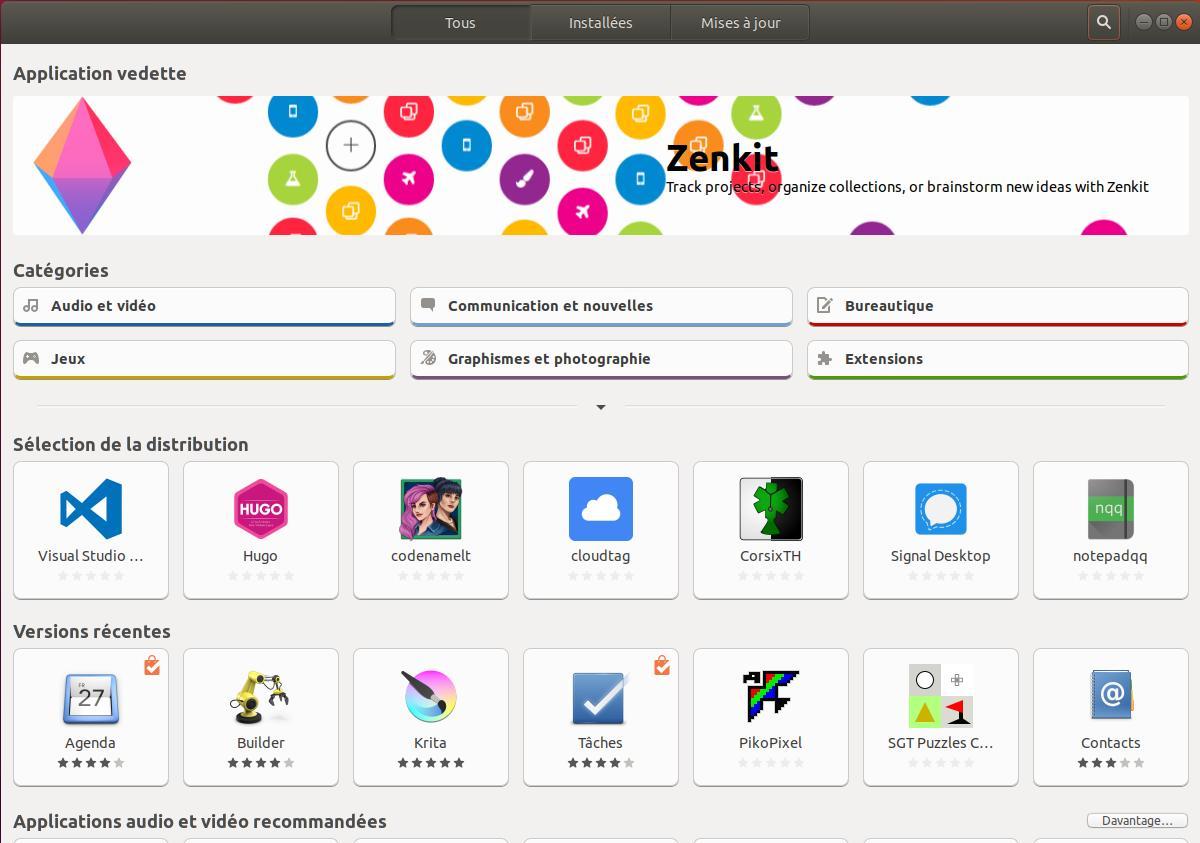 Bibliothèque des logiciels Ubuntu