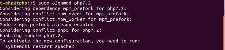 a2enmod sur Ubuntu 18.04