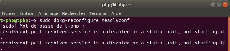 dpkg-reconfigure resolvconf sur Linux Ubuntu