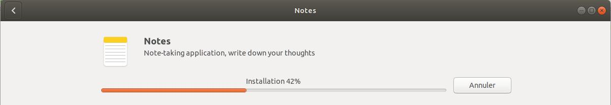 Installation en cours Notes Ubuntu
