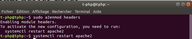 Activer mod_headers Apache Ubuntu