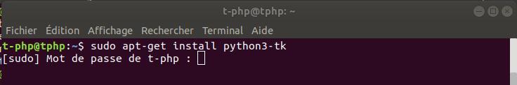 Installer Tkinter sous Python3