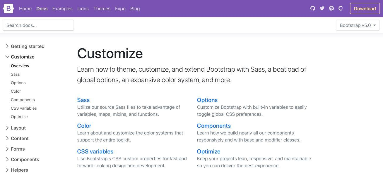 Bootstrap 5 Customize