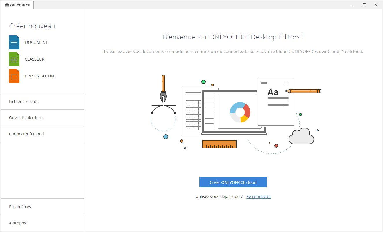 Interface OnlyOffice Windows
