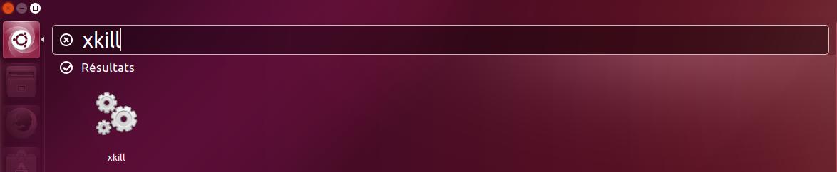 Application XKILL Ubuntu