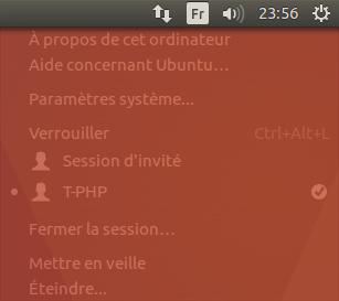 Raccourci Menu Ubuntu