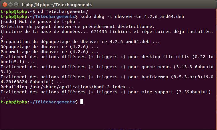 Installation DBeaver Ubuntu