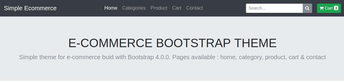 Theme E-Commerce gratuit pour Bootstrap 4